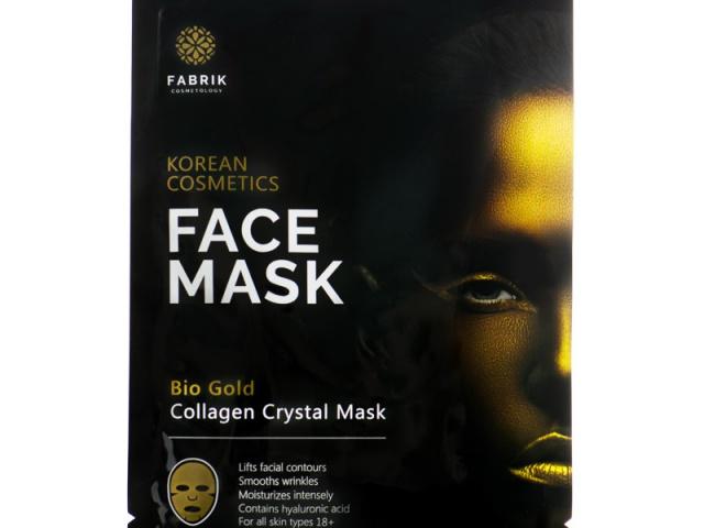 Fabrik Гидрогелевая маска для лица с био золотом Fabrik cosmetology