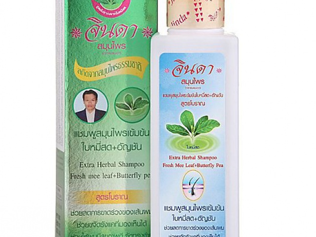 Jinda Extra Shampoo - Интенсивный Травяной Шампунь от выпадения волос.