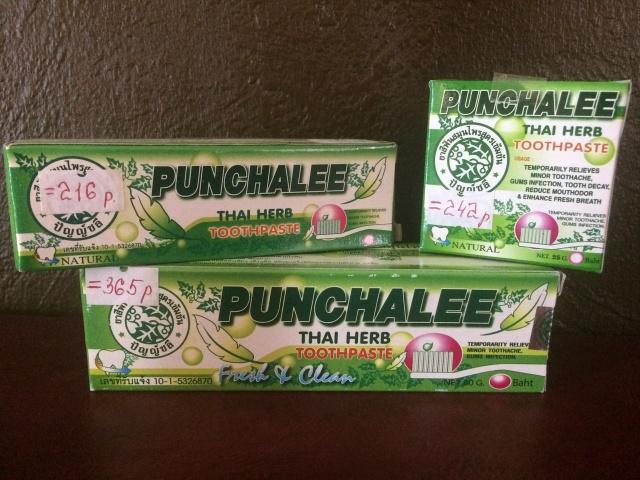 Punchalee Растительная зубная паста отбеливающая с ментолом Herbal Toothpaste